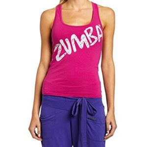 Zumba Fitness Pink Racerback Tank XL